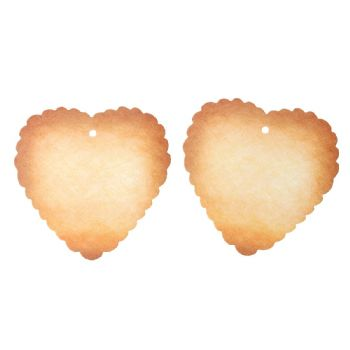 Pack of 10 scalloped hearts Gift Tags  6.9cm x 6,9cm
